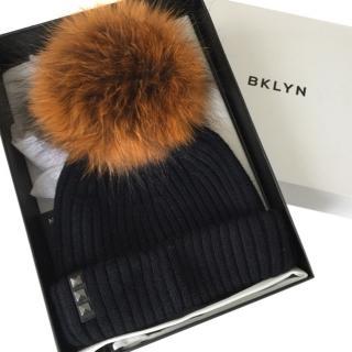 BKLYN Merino Wool bobble hat