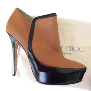 Jimmy Choo Black & Tan Ankle Boots