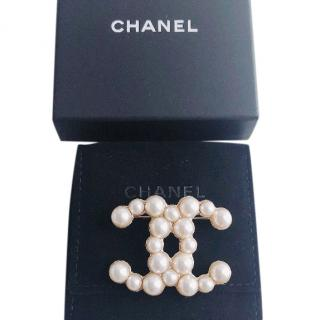Chanel Pearl Brooch