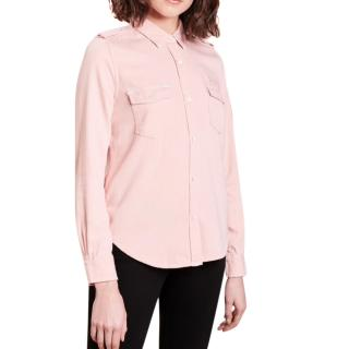 Frame pink denim Military Shirt