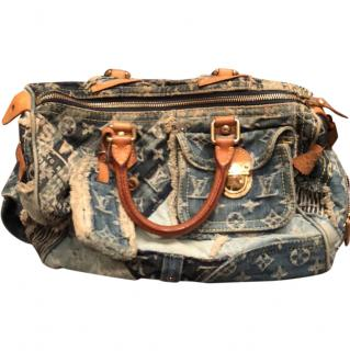 Louis Vuitton Limited Edition Denim Speedy Bag
