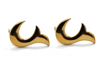 Babette Wasserman Gold Flame Earrings
