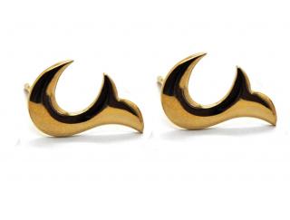 Babette Wasserman Gold Flame Earrings