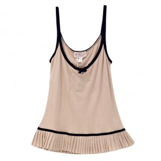 Blumarine Pleated Soft Peach Camisole