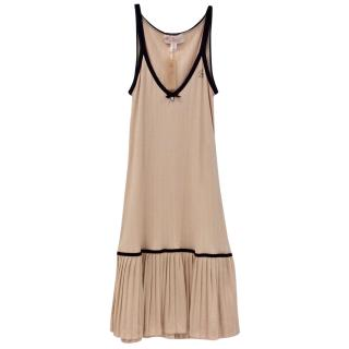 Blumarine Pleated Soft Peach Dress