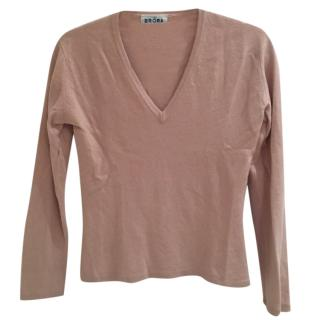 Brora Blush Pink Cashmere Sweater