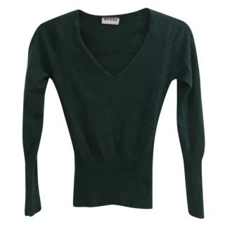 Brora cashmere cropped sweater