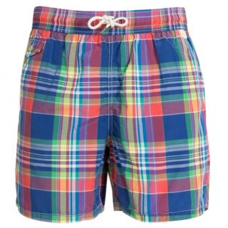 Polo Ralph Lauren checked swim trunks