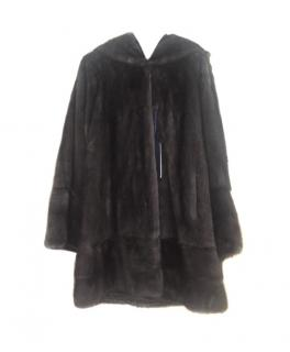 Pintadera Hooded Italian Mink Fur Coat