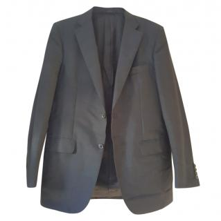 Valentino black mohair wool blazer