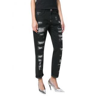 Philipp Plein embellished distressed jeans