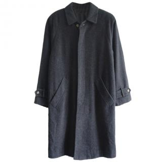 Rene Lezard Mens Wool Cashmere Grey Over Coat