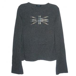 Burberry London 100% Cashmere Grey Jumper