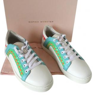 Sophia Webster Riko Leather Trainers
