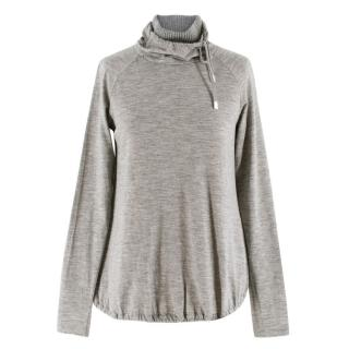 Max Mara Grey Wool Turtleneck Jumper