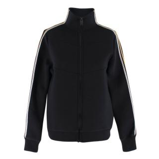 Zadig & Voltaire Deluxe Metallic Striped Sleeve Bomber Jacket