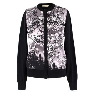 Mary Katrantzou Wool & Silk-blend Floral Print Cardigan