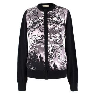 Mary Katrantzou Wool & Silk-blend Floral Print Cardigan