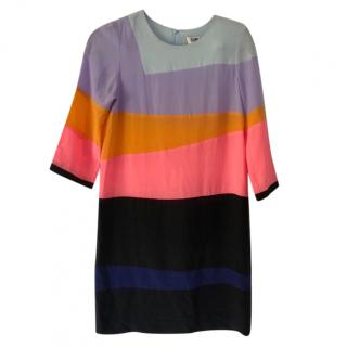 Sonia By Sonia Rykiel Silk Colour Block Dress