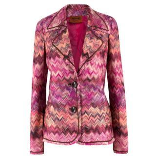 Missoni Pink Chevron Stripe Blazer/Cardigan
