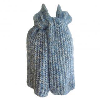 Enrico Coveri Blue Knit Scarf