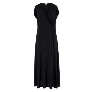 Max Mara Black Wrap Style Maxi Dress