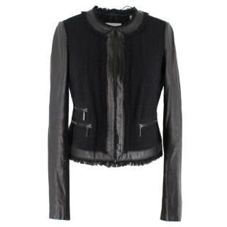Rebecca Taylor Tweed & Leather Jacket