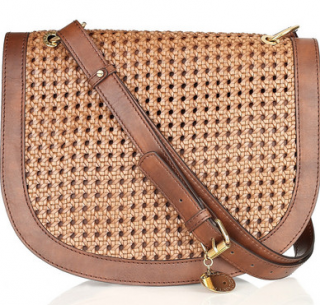 Stella McCartney Alexa woven faux leather shoulder bag