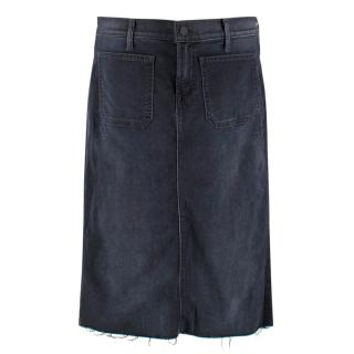 Mother Navy Denim Skirt