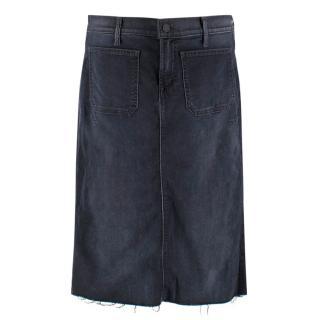 Mother Navy Denim Skirt