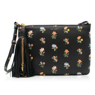 Saint Laurent Prairie Floral Leather Crossbody Bag