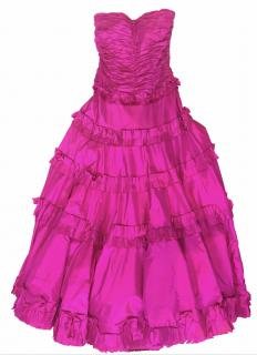 Oscar de la Renta startfish strapless Gown