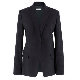 Farhi Black Pinstripe Blazer