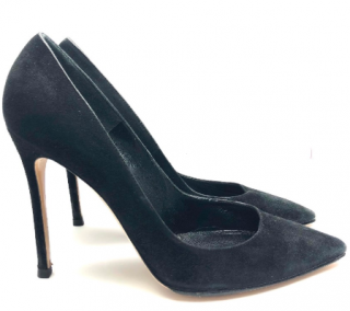 Gianvito Rossi Black Calf Suede 105 pumps