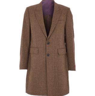 Duchamp Wool Blend Tweed Pea Coat
