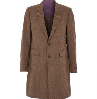 Duchamp Wool Blend Tweed Pea Coat