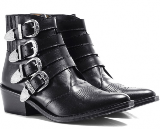 Toga Pulla Black Buckle Boots