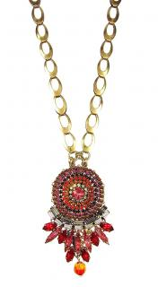 Vicki Sarge London Red Crystal Pendant Necklace