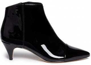 Sam Elderman black kinzey patent-leather ankle boots