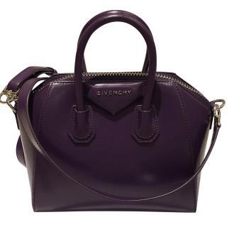 Givenchy Antigona small purple leather shoulder bag