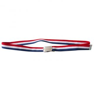 Dior Homme Red/White/Blue Clip Buckle Adjustable Belt