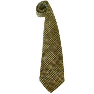 Al Duca D'Aosta Venice Cashmere Blend Plaid Neck Tie
