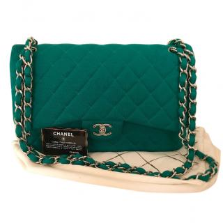 Chanel jersey classic flap bag