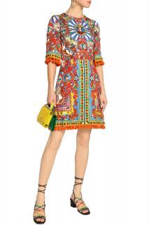 Dolce & Gabbana Caretto Sicily print dress