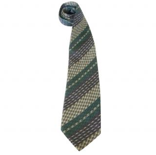 Bylbos Sage Lilac Grey Woven Silk Neck Tie