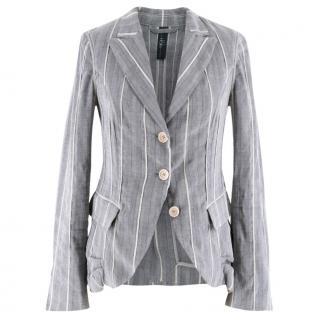 High Use Grey Striped Blazer