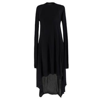Alexander Wang Black Ribbed Asymmetric Hem Dress