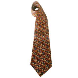 Lancel Paris Interlocking Snaffle Bits Motif Silk Neck Tie