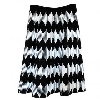 Alaia jacquard knit a-line skirt