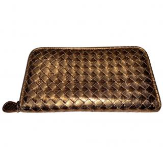 Bottega Veneta Intrecciato vn zip around wallet